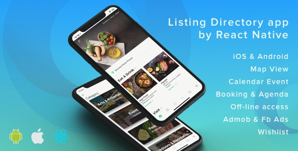 ListApp v1.7.5 – Listing Directory mobile app by React Native (Expo version)