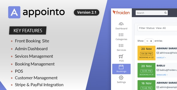 Appointo v2.2.3 – Booking Management System – nulled