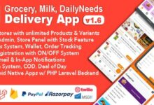 Grocery Milk v1.6 – DailyNeeds Store Delivery Mobile App with Admin Panel | Multi-Store with 3 Apps