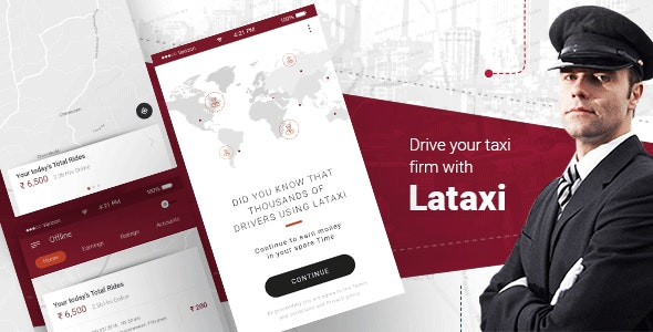 LaTaxi v1.0.20 – On Demand Taxi Booking Application Script