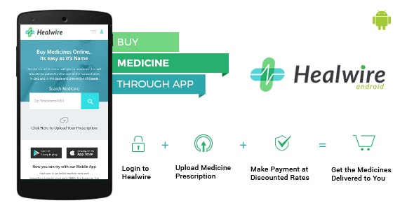 Healwire Android v1.1.2 – Online Medical Store