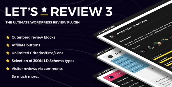Let's Review v3.2.0 – WordPress Plugin With Affiliate Options