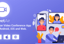 MeetAir v1.0.0 – iOS and Android Video Conference App for Live Class, Meeting, Webinar, Online Training – nulled