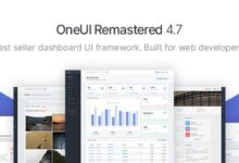 OneUI v4.7 – Bootstrap 4 Admin Panel Template